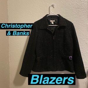 Christopher & Banks Blazer Medium Full Zip